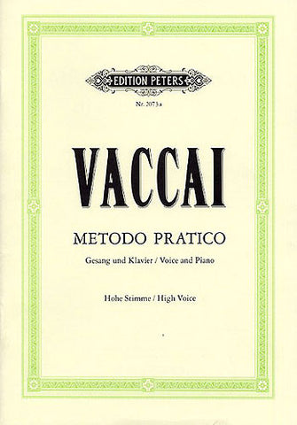 Vaccai: Metodo Pratico - High Voice - book only