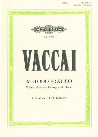 Vaccai Practical Method - Low Voice (book only)