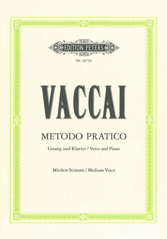 Vaccai Practical Method - Medium Voice (book only)