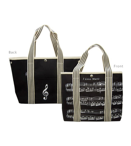 Double Sided Tote Bag Black