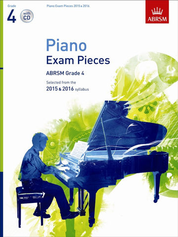 ABRSM Piano Exam Pieces 2015-2016 Grade 4 - Book and CD