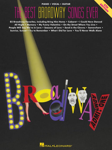 The Best Broadway Songs Ever PVG (5th ed)