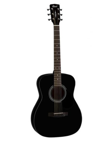 Cort AF 510 BKS Acoustic Guitar with hard case