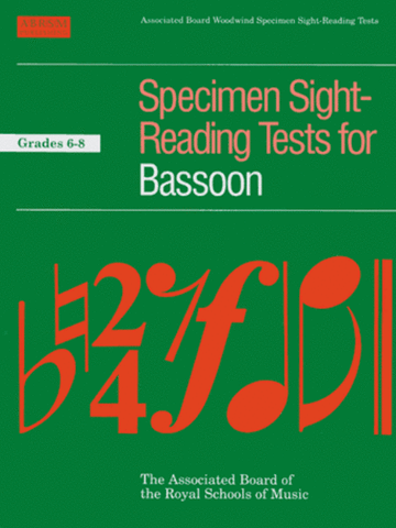 ABRSM Bassoon Sight-Reading G6-8
