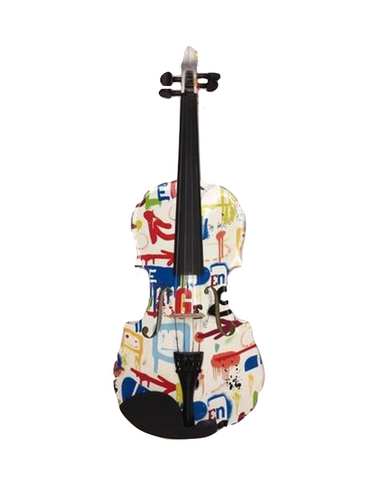 4/4 Graffiti Pattern Deluxe Violin