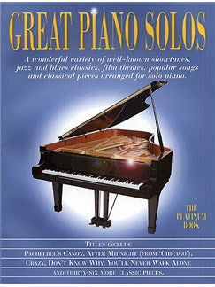 Great Piano Solos The Platinum Book