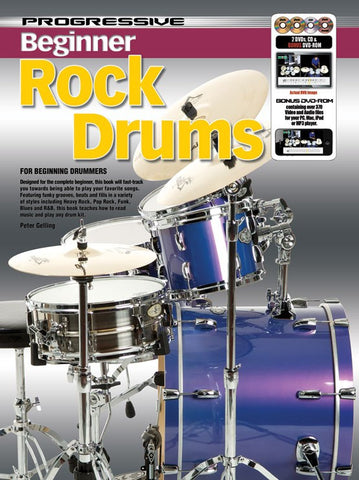 Progressive Beginner Rock Drums - Book/CD/DVD