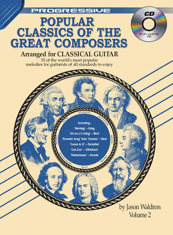 Progressive Popular Classics of the Great Composers Arr. Classical Guitar 2