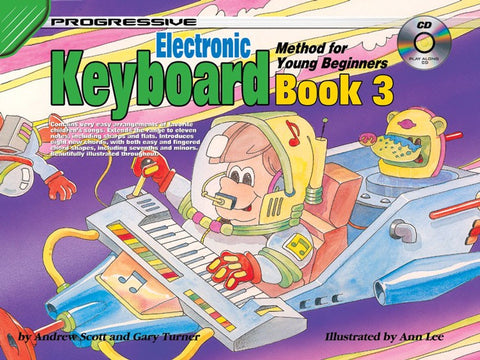 Progressive Young Beginner Keyboard 3 - Book/CD