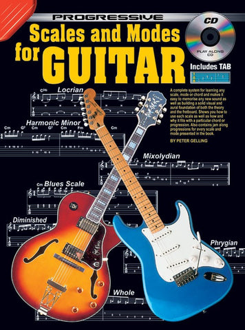 Progressive Scales and Modes for Guitar - Book/CD/DVD