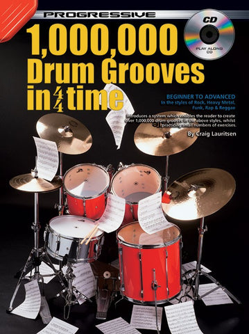 Progressive 1,000,000 Drum Grooves in 4/4 Time - Book/CD