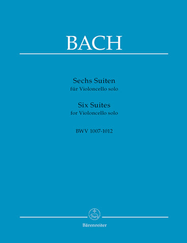 Bach Six Suites for Cello BWV 1007-1012 (Barenreiter)