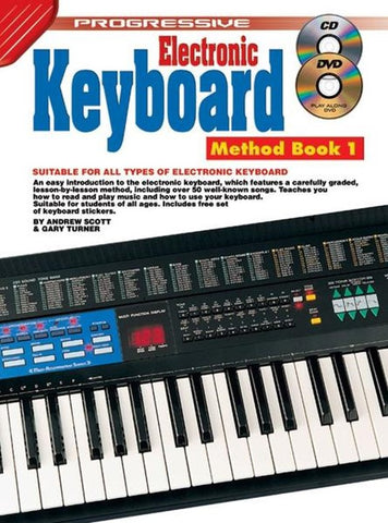 Progressive Electronic Keyboard Method 1 - Book/CD/DVD