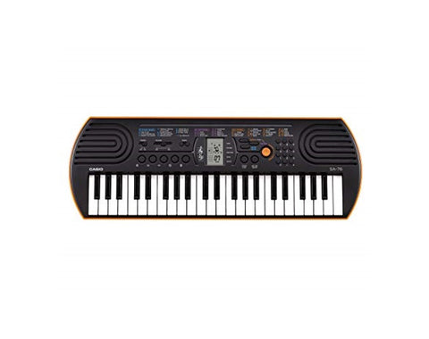 Casio SA-76 Keyboard 44 Mini Keys in Orange