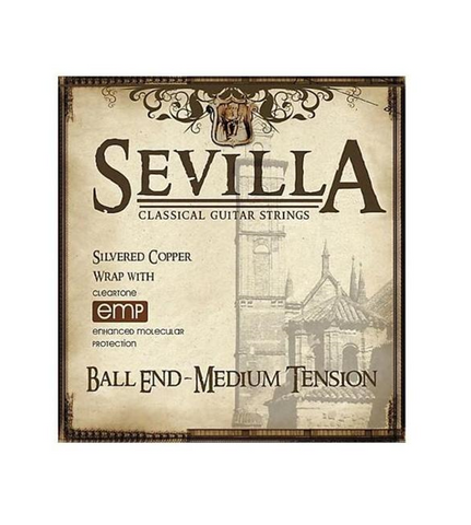 Sevilla Classical Guitar Strings - Cleartone Coating
