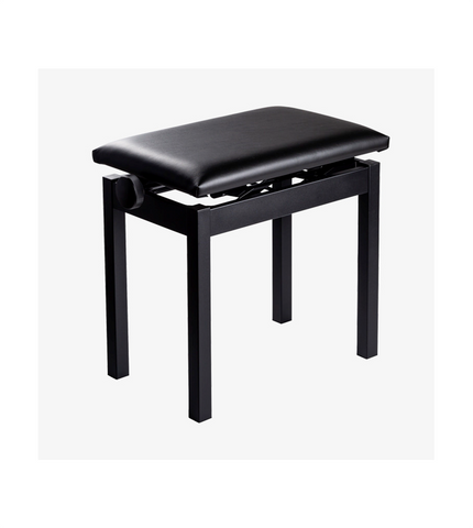Single Adjustable Piano Bench - Black, White & Brown
