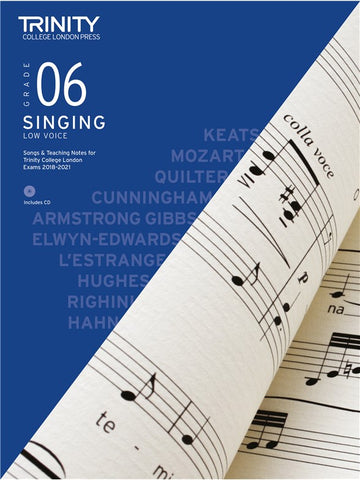 Trinity Singing Exam Pieces Grade 6 Low 2018-2021