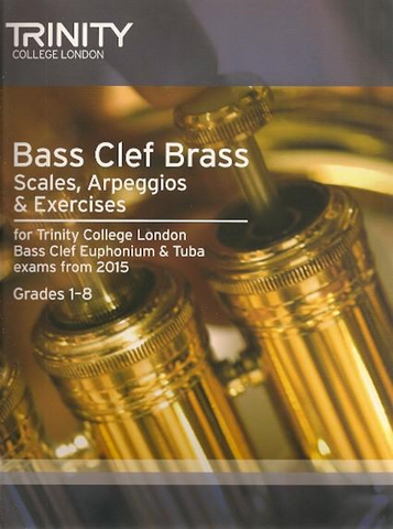 Trinity Bass Clef Brass Scales and Arpeggios G1-8
