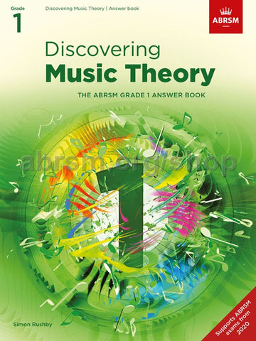 ABRSM Discovering Music Theory Answer Book Grade 1