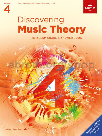 ABRSM Discovering Music Theory Answer Book Grade 4