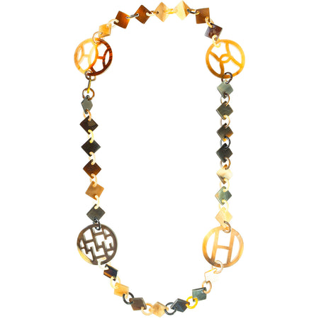 Katoucha Turquoise Gold Gilded Necklace by Satellite Paris