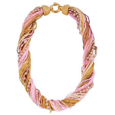 Murano Handblown Glass Bead Necklace - Fiori