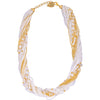 Murano Handblown Glass Bead Necklace - White