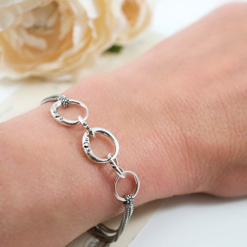 Alek Silver Plated Bracelet by Satellite Paris **GLOW STRONG ITEM**