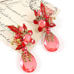 Stunning Drop Crystal Earrings by DUBLOS