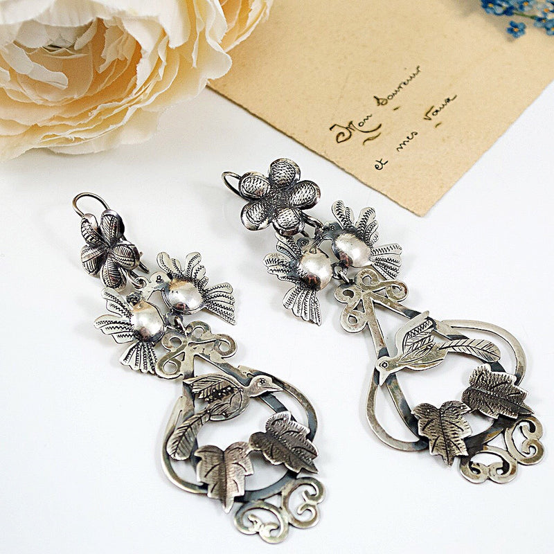 Love Bird Traditional Mexican Chandelier Earrings