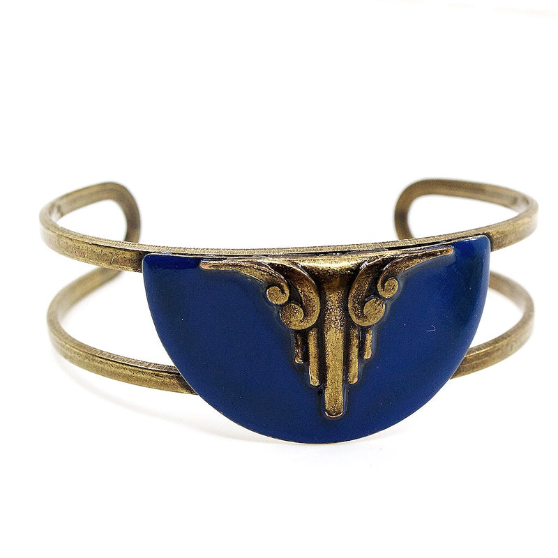 Art Deco Cuff by Zalie Smagghe - Blue