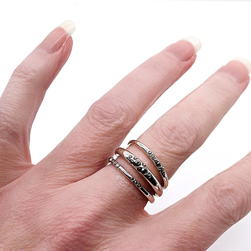 Chic Stackable Ring Set by Satellite Paris - Size 6.5