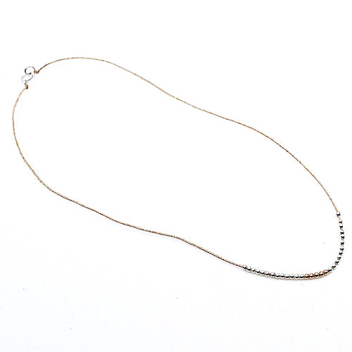 Silver Pearl Sparkling Cord Necklace by CLO&LOU
