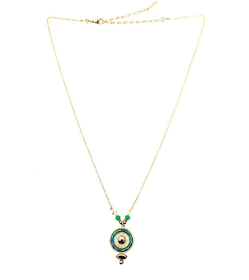 Delicate Jade and Jasper Necklace  by Satellite Paris
