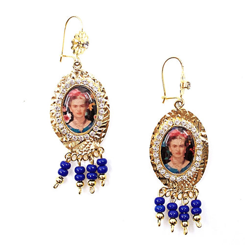 Copy of Mexican Filigree Earrings from Oaxaca - Frida Kahlo Image
