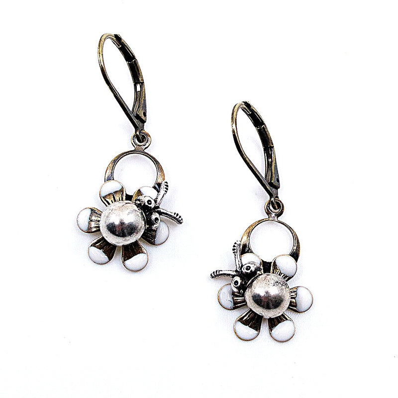 Ladybug Drop Earrings by Eric et Lydie