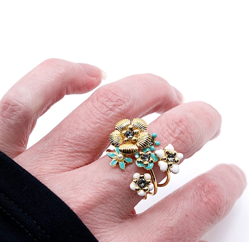 Sweet Floral Stackable Ring by Eric et Lydie