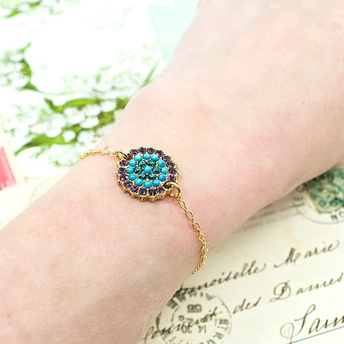 Burst Medallion Goddess Bracelet by AMARO