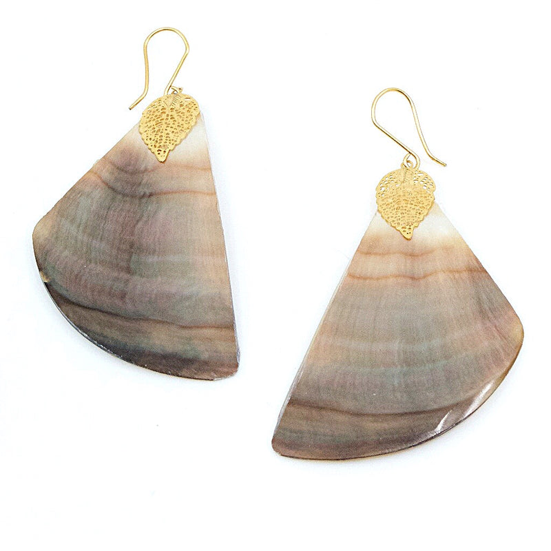 Mother of Pearl Drop Pendant Earrings