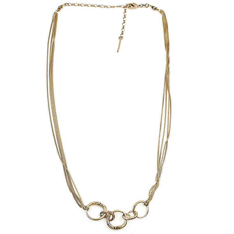 Alek Gold Plated Necklace by Satellite Paris