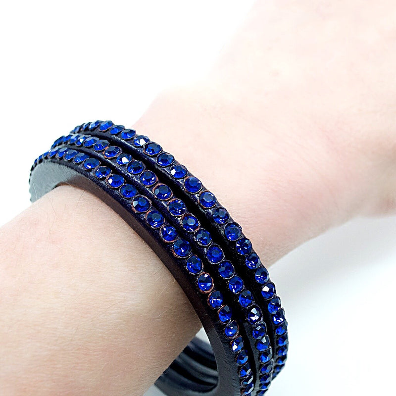Dark Blue/Purple Individual Lac Bangle - Size S/M