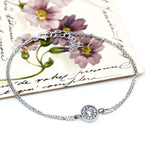 Sterling Silver and Cubic Zirconia Classic Bracelet