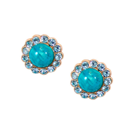 Spike Aqua Ocean Earrings by AMARO