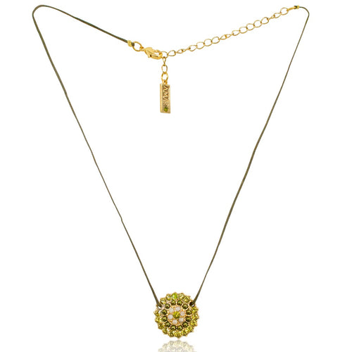 Burst Medallion Cord Necklace by AMARO