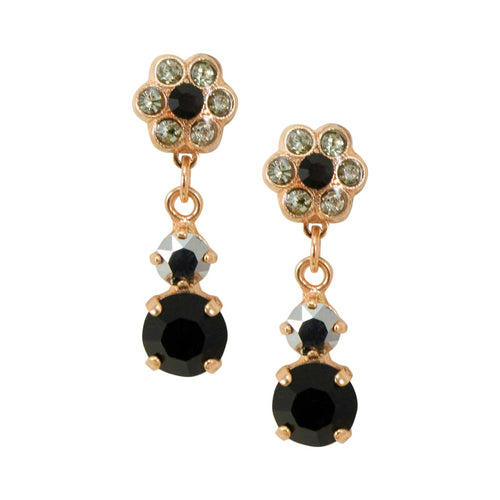 Drop Flower Onyx Earrings by AMARO