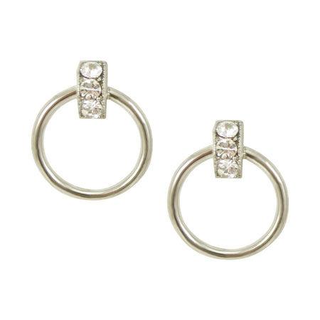 Garnet Hoop Earrings by Satellite Paris