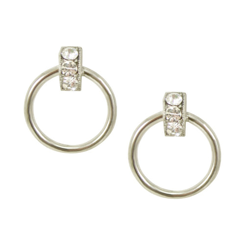 Swarovski Crystal Circle Post Earrings by AMARO