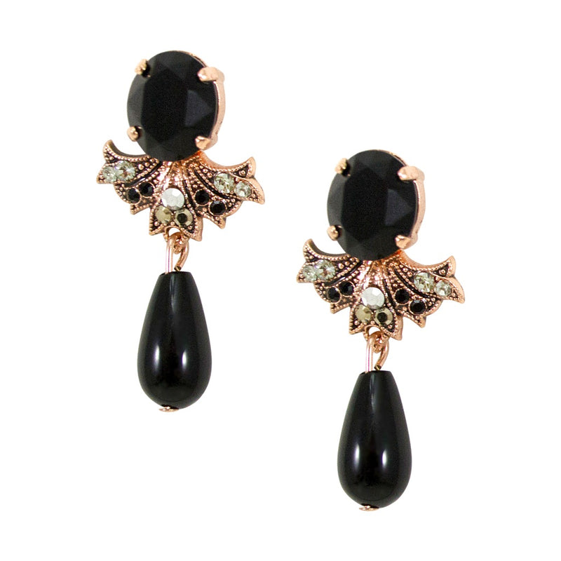Elegant Onyx Earrings by AMARO