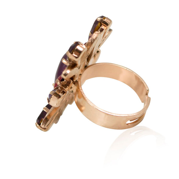 Amethyst and Swarovski Ring by AMARO