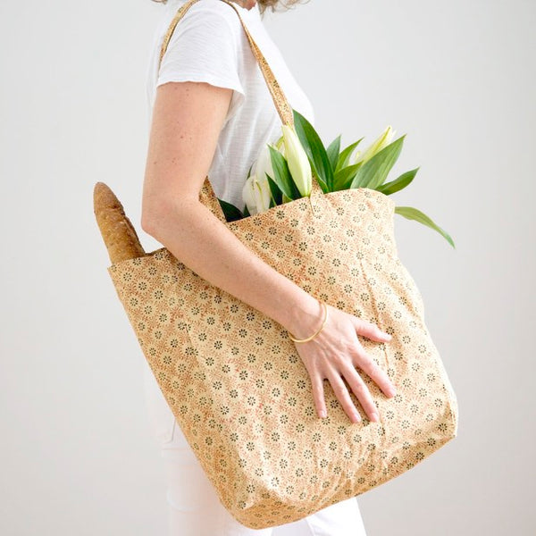 Hand Block Printed Shopper - Sun Stamp